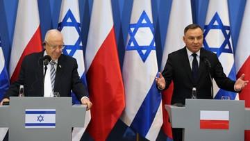 Prezydent Izraela: pamiętamy, że Polska i naród polski są ofiarami II wojny światowej
