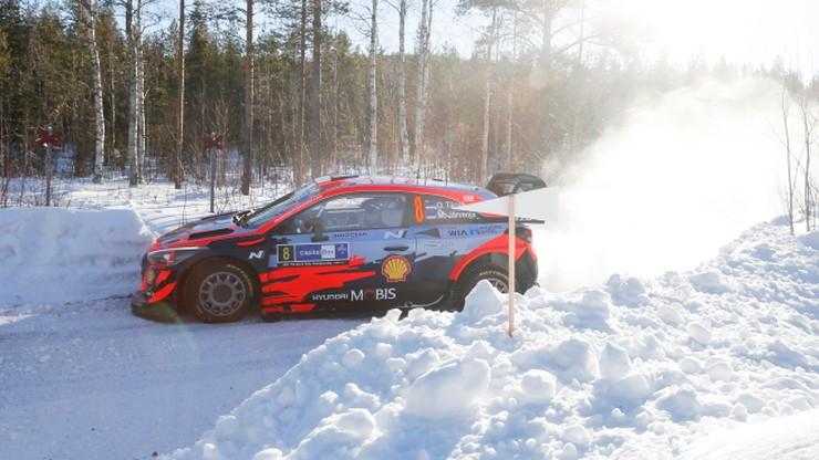 Rajd Arktyczny: Ott Tanak liderem po drugim etapie, Sebastien Ogier w zaspie
