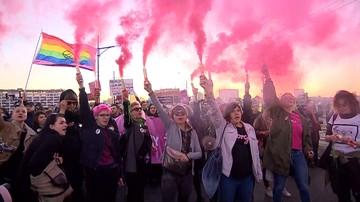 """Marsz zwolenników aborcji w Warszawie rozwiązany. """"Zostały naruszone warunki demonstracji"""""""