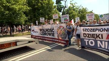 Marsz STOP NOP w Warszawie. Uczestnicy domagali się zniesienia obowiązku szczepień