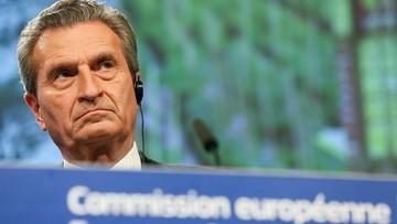 Oettinger: Niemcy powinny wpłacić 3-3,5 mld euro więcej do kolejnego budżetu UE