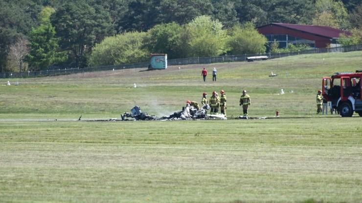 Zielona Góra. Wypadek prywatnego samolotu. Nie żyje pilot