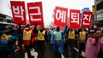 """""""Wrzućcie Park do więzienia"""". Kolejna demonstracja przeciw prezydent Korei Południowej"""