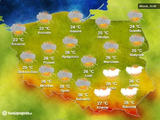 Pogoda na wtorek