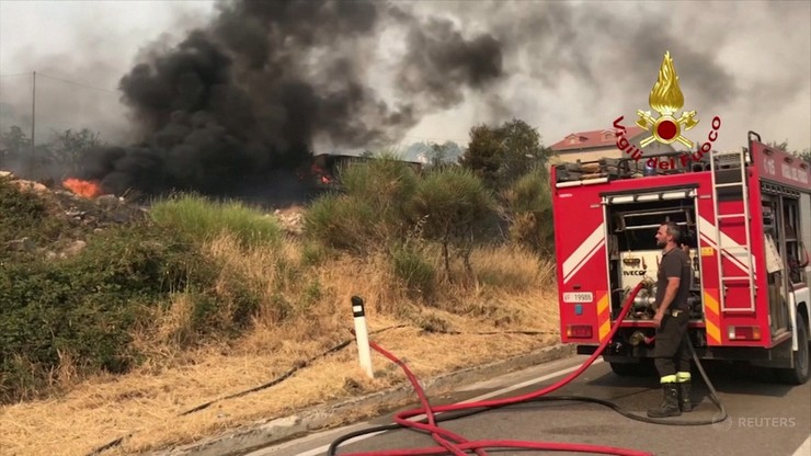 Włochy. Dwie osoby zginęły w pożarach w Kalabrii i na Sycylii