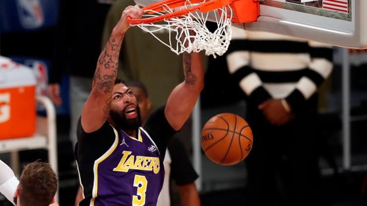 NBA: Przerwana seria zwycięstw Los Angeles Lakers. Uraz Anthony'ego Davisa
