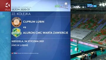 Cuprum Lubin – Aluron CMC Warta Zawiercie 3:1. Skrót meczu