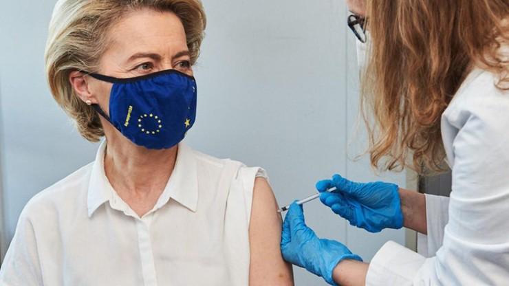 Szefowa KE zaszczepiona. Jutro preparat przyjmie Angela Merkel