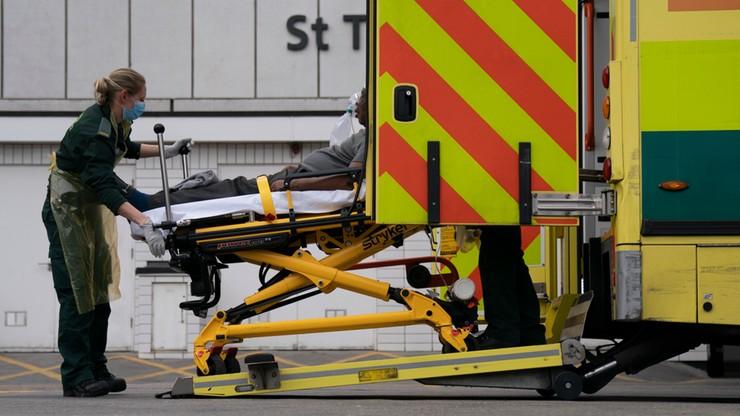 Największy dobowy wzrost zgonów w W. Brytanii. Zmarły 563 osoby