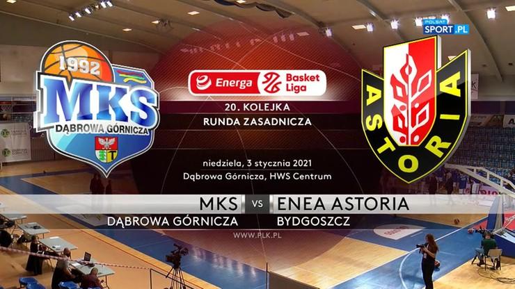 EBL: MKS Dąbrowa Górnicza - Enea Astoria Bydgoszcz 89:86. Skrót meczu