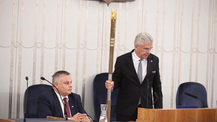 Karczewski: posiedzenie Senatu zostanie przerwane i wznowione po wyborach