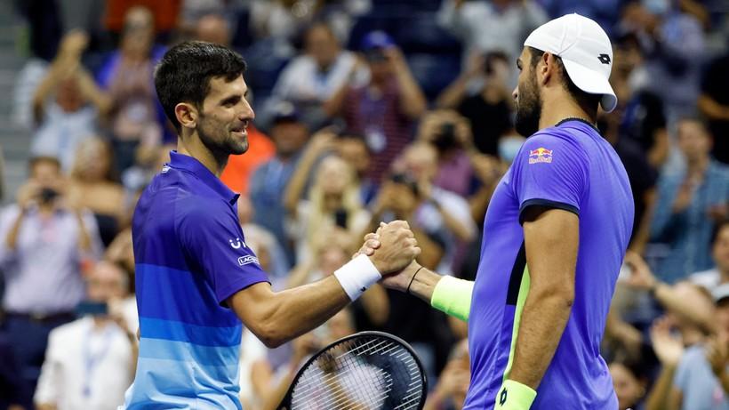 US Open: Djokovic w półfinale, dwa kroki od historycznego osiągnięcia