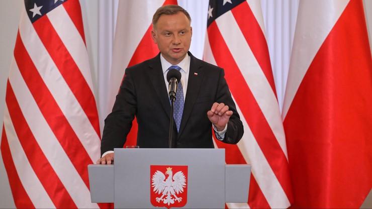 Prezydent Andrzej Duda w nowym spocie wyborczym Donalda Trumpa