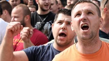 Górnicy demonstrowali przed siedzibą Polskiej Grupy Górniczej. Chcą 1000 zł podwyżki