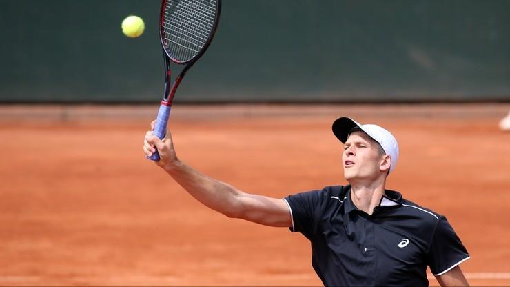 ATP w Lyonie: Hurkacz przegrał w 1. rundzie debla