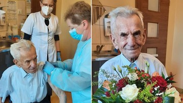 Najstarszy Polak zaszczepił się na koronawirusa. Ma 111 lat