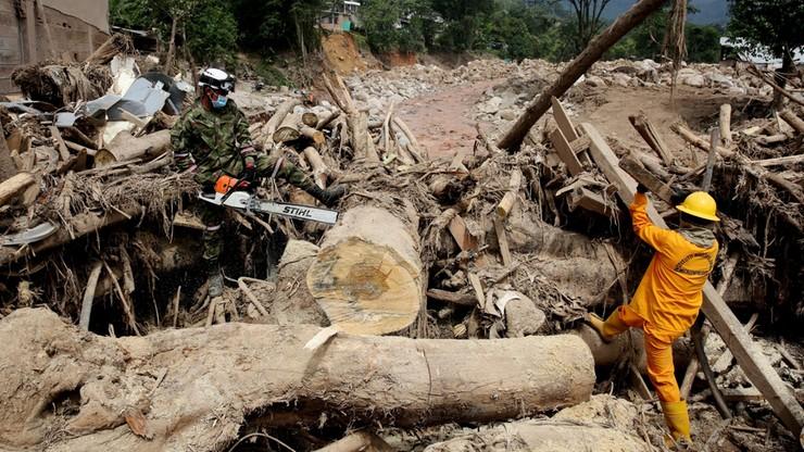 Już 301 ofiar lawiny błotnej w Kolumbii, ponad 300 zaginionych