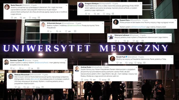 """""""Jesteśmy z Tobą"""". Reakcje polityków po ataku na prezydenta Gdańska"""