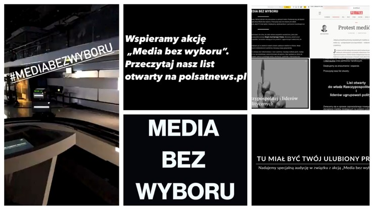 """""""Media bez wyboru"""". Reakcje polityków, dziennikarzy i internautów"""