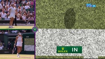 """Nieprawdopodobny challenge na Wimbledonie. """"Jeden milimetr"""" (WIDEO)"""