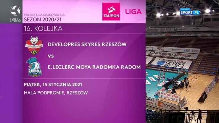 Developres SkyRes Rzeszów – E.Leclerc Moya Radomka Radom 3:0. Skrót meczu