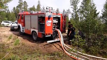 Polscy strażacy w Szwecji: pożar opanowany, przechodzimy do ataku