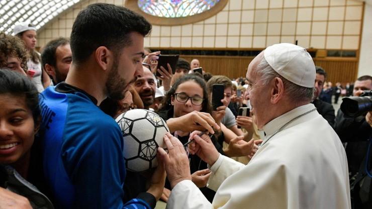 Papież Franciszek: Piłka nożna to najpiękniejszy sport na świecie