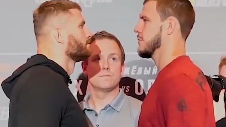 UFC w Moskwie: Błachowicz i Krylov stanęli twarzą w twarz