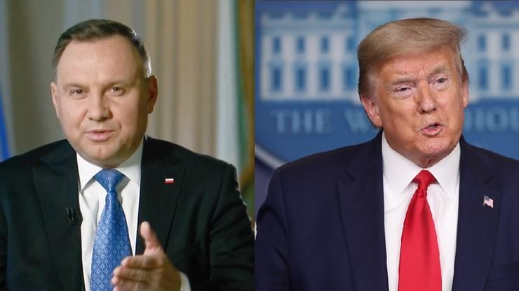 Trwa rozmowa prezydentów Polski i USA. Wiadomo, jaki jest jej temat