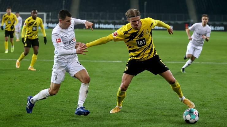 Borussia Dortmund przegrała w Moenchengladbach. Gole Erlinga Haalanda nie wystarczyły