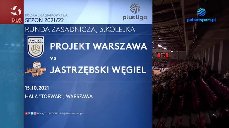 Projekt Warszawa - Jastrzębski Węgiel. Skrót meczu