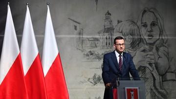 Morawiecki w Wieluniu: tu objawił się barbarzyński zamysł Niemców