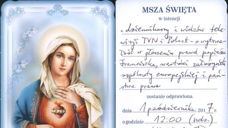 """Zamówił mszę za wytrwałość dziennikarzy Polsatu i TVN. Ksiądz zamienił """"wytrwałość"""" na… """"rzetelność"""""""