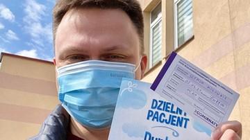 Prezydent o szczepieniu Hołowni: więcej wyrozumiałości dla ludzkiej słabości