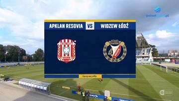 Apklan Resovia -Widzew Łódź 1:2. Skrót meczu