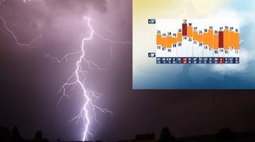 Burze z gradem, ulewy i trąby powietrzne. Sprawdź długoterminową prognozę pogody