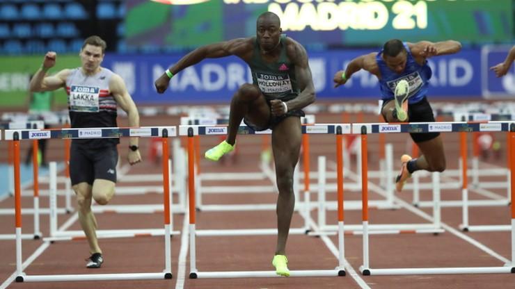 Mityng w Madrycie: Rekord świata Granta Hollowaya w biegu na 60 m przez płotki