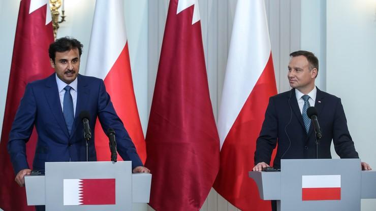 """""""Chcemy zainteresować się polską ofertą sprzętu wojskowego"""". Emir Kataru po spotkaniu z prezydentem"""
