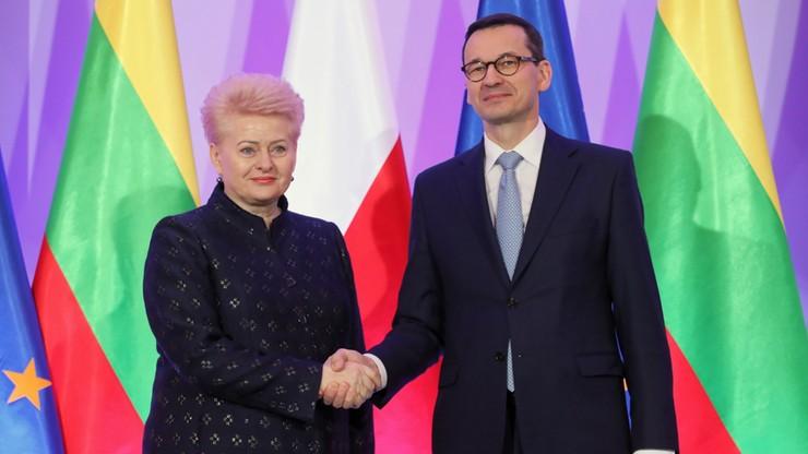 Morawiecki i Grybauskaite dyskutowali m.in. o sytuacji mniejszości polskiej na Litwie