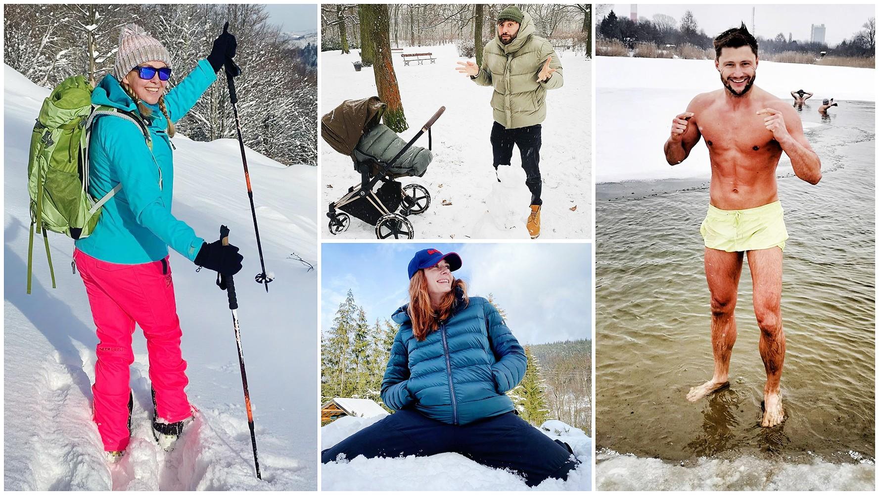 Zima gwiazd Polsatu: Śnieg, bałwan, narty i morsowanie