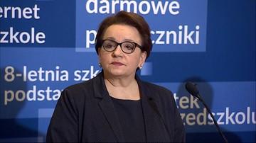 Zalewska: nauczycielom wynagrodzenie za czas strajku się nie należy