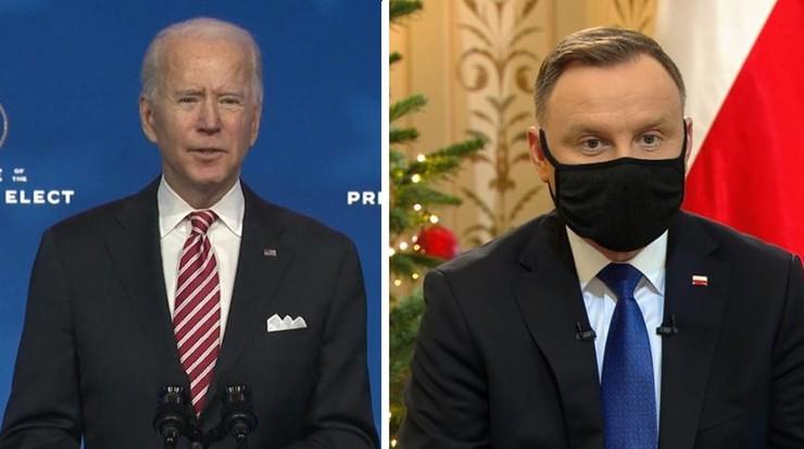 """Joe Biden napisał do Andrzeja Dudy. """"Cieszę się z przyszłej współpracy"""""""