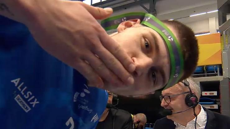 PlusLiga: Nietypowe zakończenie transmisji. Bartosz Kwolek wtargnął przed kamery Polsatu Sport! (WIDEO)
