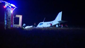 Wypadek awionetki pod Poznaniem. Pilot mógł być nietrzeźwy