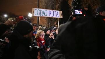 Dwie demonstracje przed domem Jarosława Kaczyńskiego