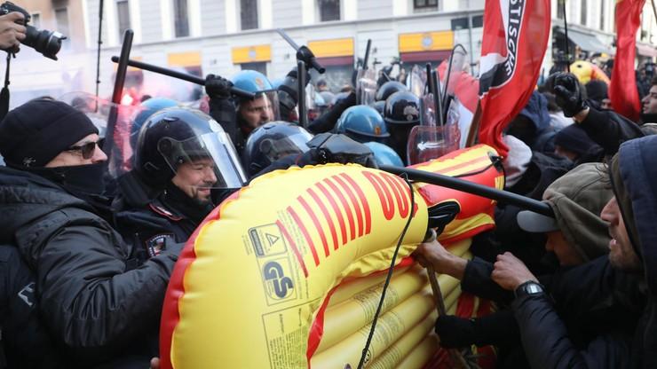 Demonstracje skrajnej prawicy i środowisk lewicowych na ulicach włoskich miast