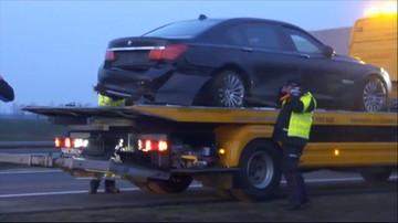 Incydent z udziałem limuzyny prezydenta na autostradzie A4