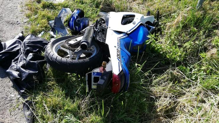 Ścigał motocyklistę, bo nie zatrzymał się do kontroli. Policjantowi grozi do 8 lat więzienia