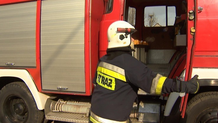 Wypadek z udziałem dwóch wozów strażackich. Cztery osoby ranne