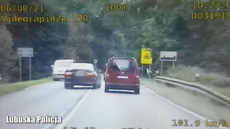 Zielona Góra. 20-latek jechał 250 km/h. Próbował uciec przed policją